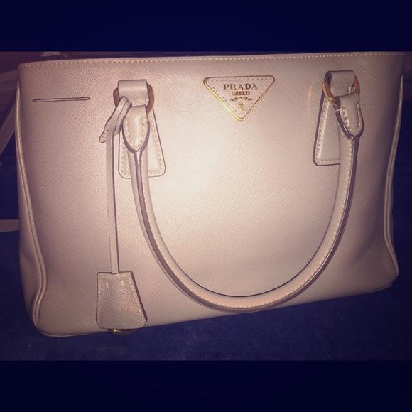 45726ab87c15a3 Prada Bags | Pomice Saffiano Lux Leather Tote | Poshmark